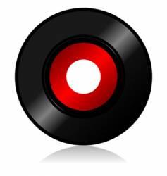 vinyl record with shadow vector image