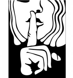 be quiet vector image vector image