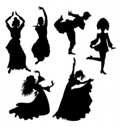 folk dances vector image