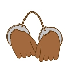 hand with handcuffs icon image vector image