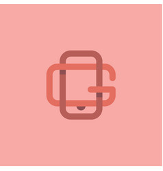letter g and gadget form logos in minimalism flat vector image