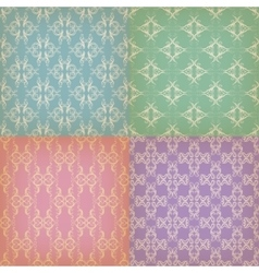 Set of seamless with graphic patterns vector image vector image