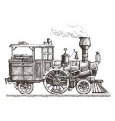 steam locomotive logo design template vector image