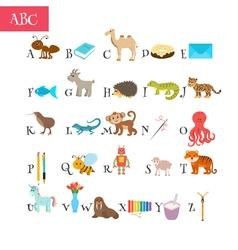 ABC Cartoon vocabulary for education Children vector image