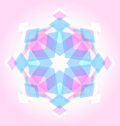 Abstract geometric snowflak vector image vector image