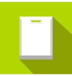 Blank white plastic bag flat icon vector image