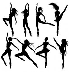 modern ballet vector image