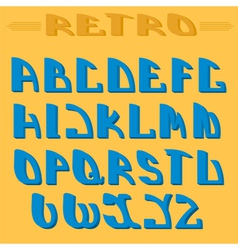 Retro styled font Design elements vector image vector image