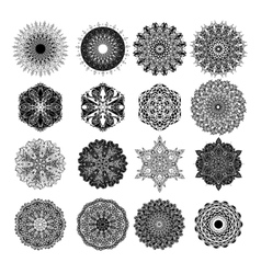 Set of abstract design element Round mandalas in vector image vector image