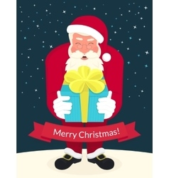 Smiling Santa Claus wearing red hat and glasses vector image vector image