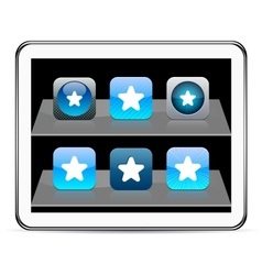 Star blue app icons vector image