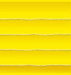 Strips of orange paper ragged edge vector image