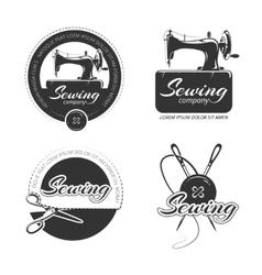 Vintage tailor labels emblems and logo set vector image vector image
