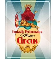 Circus retro poster vector image vector image