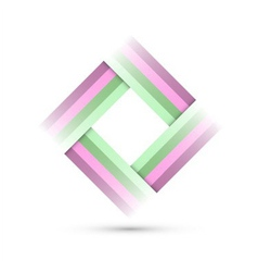colored rectangle symbol vector image vector image