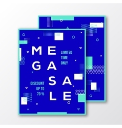 Mega Sale Season Poster Card or Flyer Template vector image vector image