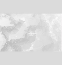 abstract polygonal gray background with connected vector image