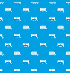 air conditioning pattern seamless blue vector image