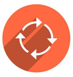 arrow sign rotation icon circle button vector image