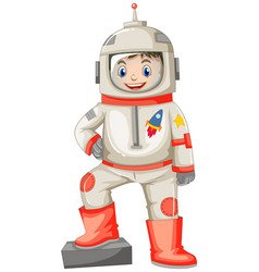 Astronaut in spacesuit on white background vector