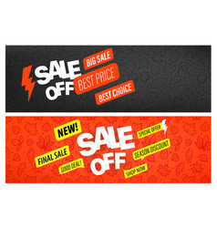 back to school special offer banners special vector image