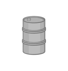 Barrel icon in black monochrome style vector