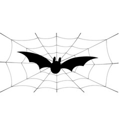 bat icon bat wings black web silhouette vector image