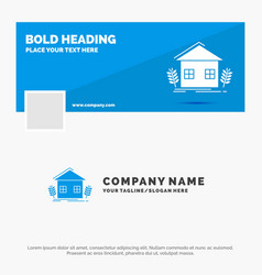 Blue business logo template for agriculture urban vector
