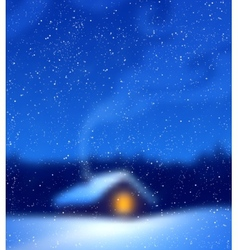 Blurred winter background vector image