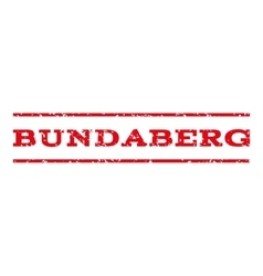 Bundaberg Watermark Stamp vector image