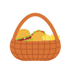 Burguer and french fries vector