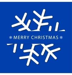 Christmas greeting card with snowflake vector