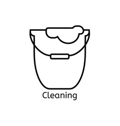 cleaning simple line icon wash thin linear signs vector image