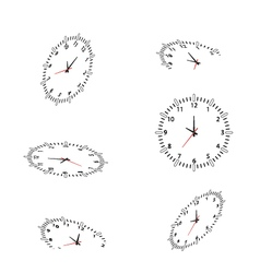 clocks for you design vector image
