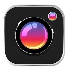 Colorful Camera Icon vector image
