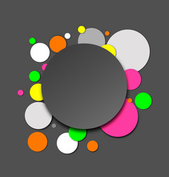 Colorful neon paper circles vector