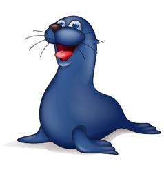 Cute seal cartoon vector
