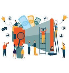 digital marketing concept seo market research vector image