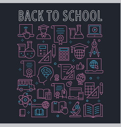 education line icons set for interface print vector image