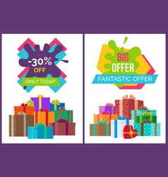 fantastic offer sale advert vector image