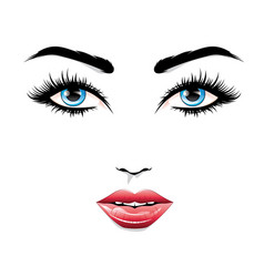 Fashion fem face vector