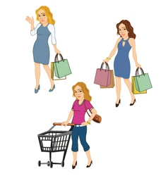 Female Shoppers vector