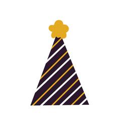 festive colorful cone hat icon vector image vector image