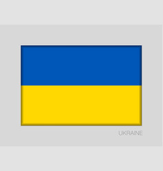 Flag of ukraine national ensign aspect ratio 2 to vector