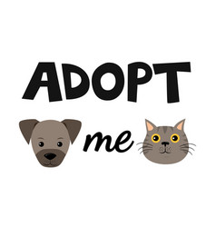 flat cartoon dog and cat icon design vector image