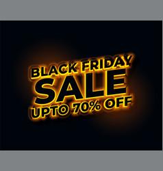 glowing lights golden black friday sale banner vector image