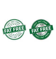 grunge stamp and silver label fat free vector image