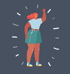 happy plus size girl body positive concept vector image