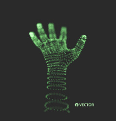 human arm hand model connection structure future vector image