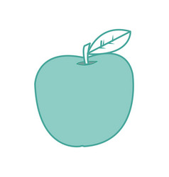 isolated apple design vector image